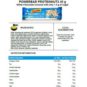 PowerBar Protein Nut 2 Bar Box 18x2x22,5g Milk White Chocolate Coconut